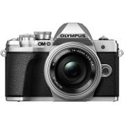 Aparat Foto Mirrorless Olympus E-M10 MARK III + Obiectiv EZ-M1442 II R, 16.1 MP, Filmare 4K, WI-FI (Argintiu)