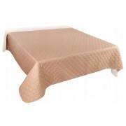 Cuvertura de Pat din Microfibra pentru Dormitor, Dimensiune 200x220cm, 2 Fete Cappuccino si Bej