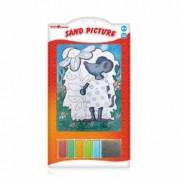Set pictura cu nisip Orange Elephant Mouse