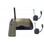 DVR видео трансмитер с приемник и 2 безжични мини камери