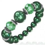Divat karkötő zöld üveggömbökkel