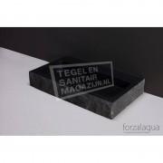 Forzalaqua Taranto Wastafel 50 cm Graniet Gekapt 50x30x8 cm 1 wasbak zonder kraangaten