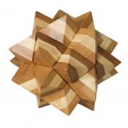 Fridolin Joc logic IQ din lemn bambus Star
