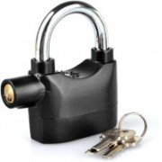 Martand Alarm Padlock for Bicycle Motorcycle Door Gate Bike Shed Bolt Chain 110db Siren Safety Lock (Black) Safety Lock(Black)