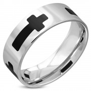 Inel inox Latin Cross B2423