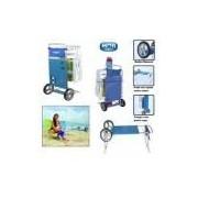 Carrinho de Praia em Aluminio e Plastico para Carregar Ate 5 Cadeiras