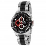 Jiusko Extravagante schwarze Saphirglas-Uhr