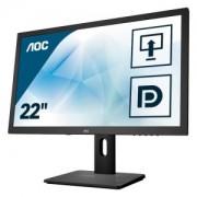 AOC I2275PWQU - 54,6 cm (21,5 Zoll), LED, Höhenverstellung, Pivot, USB-Hub, DisplayPort