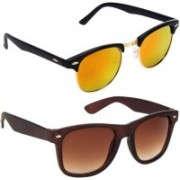 Royalmede Clubmaster, Wayfarer Sunglasses(Multicolor, Brown)