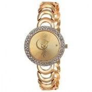 Rich Stainless Steel Chain Wrist Watch for Women