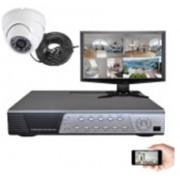 Kit vidéosurveillance 1 dôme CMOS 600 lignes