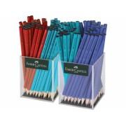 Creion grafit fara guma Grip 2001 2 x 72 cutie plastic culori asortate Faber-Castell