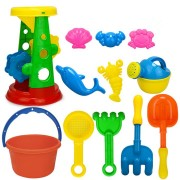 12Pcs/Set Summer Beach Sand Play Toys Sand Water Toys Kids Seaside Bucket Shovel Rake Kit Play Toys