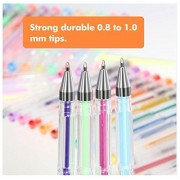 60 Gel Pen Color Set Glitter Metallic Neon Pastel Art Adult Coloring Book Supply