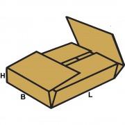Versandboxen zum Einschlagen, FEFCO 0402 aus 2-welliger Pappe Innenmaße 240 x 200 x 150 mm, VE 100 Stk