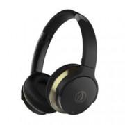 Слушалки Audio-Technica ATH-AR3BT, безжични (Bluetooth 4.1), до 30 часа време за работа, до 10м обхват, сгъваеми, бързи бутони, черни