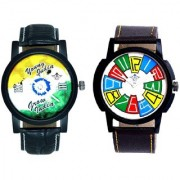 Exclusive Multi Colour And Young India Grow India Men's Analog Combo Casual Wrist Watch By Google Hub