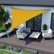 Jarolift Voile d'ombrage triangulaire, imperméable, jaune, 360x360x360 cm