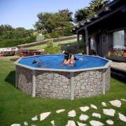 Сглобяем басейн Gre имитация на камък 460 x 120 см, кръг
