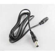 3m-es fekete hosszabbító kábel 5,5mm