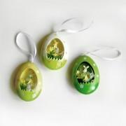 Decorazione di Pasqua da appendere - Set 3 pezzi a forma di uovo