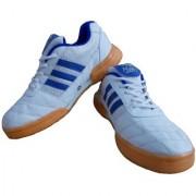 Port Men's Blue White Smash Badminton Shoes
