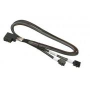 Supermicro Int. 2 Right Angle mSAS HD SFF-8643 to 2 Straight mSAS HD 65cm Cable CBL-SAST-0670