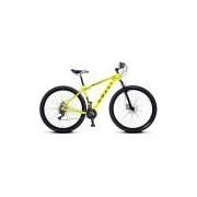 Bicicleta Colli em Alumínio Aro 29 MTB Suspensão Dianteira Freios á Disco Colli - 531 - Amarela
