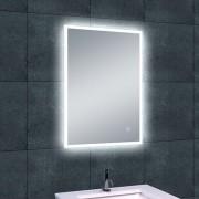 Badkamerspiegel Wiesbaden Quatro 50x70cm Geintegreerde LED Verlichting Verwarming Anti Condens Touch Lichtschakelaar Dimbaar