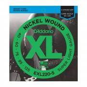 D'Addario - 5er Bass XL Nickel 40-125 40-60-75-95-125, EXL220-5