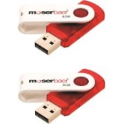 Moserbaer Swivel Pack of 2 8 GB Pen Drive(Red)