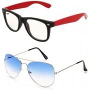 Yaadi Aviator, Wayfarer Sunglasses(Clear, Blue)