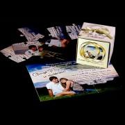Invitatie de nunta, puzzle magnetic, 9 piese