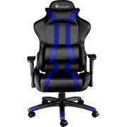 tectake Premium Gamingstol svart/blå av tectake