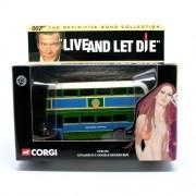LEYLAND R.T. DOUBLE DECKER BUS * LIVE AND LET DIE * 2001 Corgi Classics 007 The Definitive James Bon
