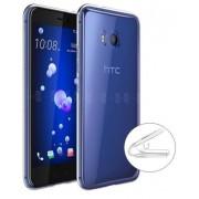 Protectie Spate Lemontti Silicon Ultraslim pentru HTC U11 Life (Transparent)