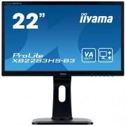 Monitor iiyama XB2283HS-B3, 22'', VA, FullHD, 4ms, 250cd/m2, 3000:1, 16:9, VGA,HDMI, DP, repro, výškov.nas., pivot