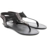 Madden Girl Women Black Fabric Flats