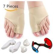 7Pcs/Set Bunion Corrector Gel Pad Stretch Nylon Hallux Valgus Protector Guard Toe Separator Orthopedic Supplies Foot Car