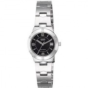 Casio Enticer Analog Black Dial Womens Watch - LTP-1241D-1ADF (A849)