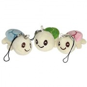 Lucore Happy Turtles Plush Lucky Charms- 3 Pcs Tortoise Stuffed Animal Keychains Hanging Toy Doll Ornaments