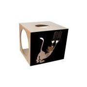 Nicho Para Gatos Carlu Pet House Arranhando Scratch Preto