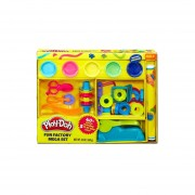 Plastilina Play-Doh FÁBRICA DIVERTIDA MEGA SET con 5 Plástilinas