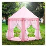 Beautiful Pink Girls Princess Castle Playhouse Children Kids Play Tent In/Outdoor Toys
