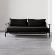 Una Black Sleeper Sofa by CB2