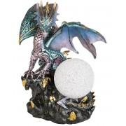 Drakefigur i Metalliska Färger och LED Ljus 23,5 cm