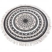 Home Styling Collection Kulatý koberec dekorativní, rohožka z bavlny, Ø 120 cm