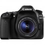 Digitalni SLR fotoaparat Canon EOS 80D Uklj. EF-S 18-55 mm IS STM 24.2 MPix Crna WiFi, Mobilni okretni zaslon