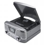 GPO Tocadiscos GPO Retro Memphis Sistema de música 4 en 1 con CD y radio FM - Gris