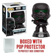 Funko Pop! Star Wars: Rogue One - Imperial Death Trooper #144 Vinyl Figure (Bundled with Pop BOX PROTECTOR CASE)